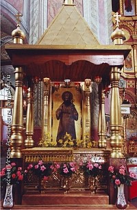 Shrine with honorable relics of St. Tikhon of Zadonsk